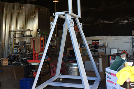 RPMTech Prototype Off Road Test Equipment Rack Welded and Painted