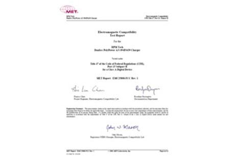 RPMTech Test UL Certificate